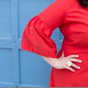 Lauren Ralph Lauren Dresses - Red Ralph Lauren Dress with Bell Sleeves